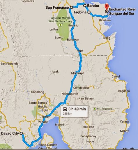 How to Get to Enchanted River in Surigao from Davao  janwand3rs